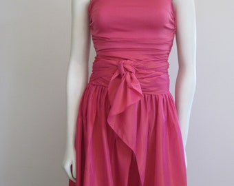 Emanuel Ungaro / Ungaro / Ungaro Dress / 80s Formal Dress / Two Piece Dress / Designer / Pink / Spring / Convertible Dress / Party Dress