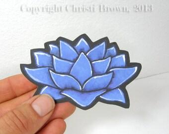 Lotus Flower Sticker for Car window or bumper craft decal waterproof vinyl