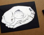 Animal skull blank card with hinged jaw