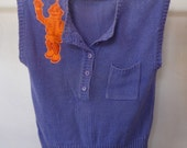 Robot Greetings, Oversized '90s Sweater-Vest (ladies one size fits most, ooak)