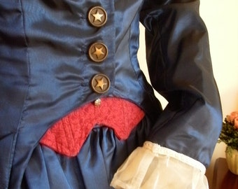 Custom Victorian Ball Gown--- 3 piece Set Includes Skirt, Bustier and Jacket--- Custom, Made To Order