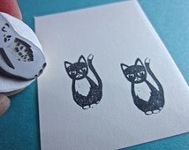Stubborn Cat Rubber Stamp RANG003
