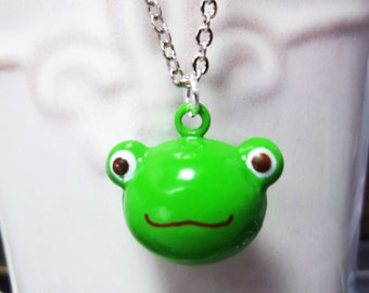 Frog Necklace Child Necklace Stocking Stuffer Christmas Gifts Kids Necklace