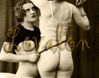 MATURE... Bad Girl, No Spanking... Vintage Nude Fetish Photo... Deluxe Erotic Photography Art Print... Available In Various Sizes