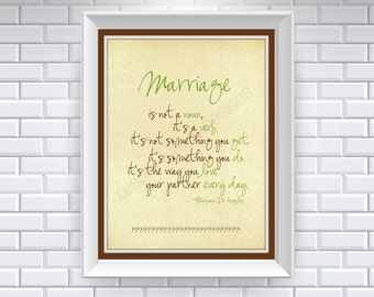Marriage, Typography Art, 8x10 digital print