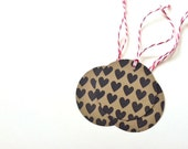 Heart Gift Tags - Heart Stamp - Set of 10