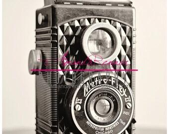 Fine Art Photography - 12x18 Canvas Gallery Wrap - Metro Vintage Camera