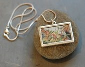 """Original Hand-Painted  Pendant - """"Salem, MA - Abstracted"""""""