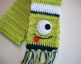 PATTERN Silly One Eyed Monster Alien Scarf Toddler