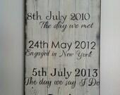 Custom sign on barn wood. Wedding gift, anniversary, house warming, birthday