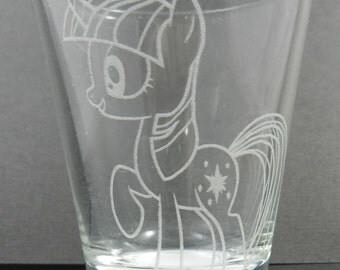 Twilight Sparkle Etched Shot Glass