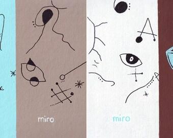 Miro Miro Miro Your Boat // Joan Miro pun art - art print