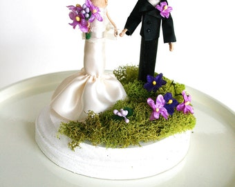 Wedding Cake Topper custom made shabby chic cake topper