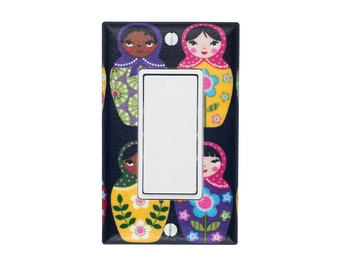 READY To SHIP Matryoshka Doll Rocker Decora Light Switch Plate Cover / Baby Girl Nursery / Children Kids Girls Room / Kitchen