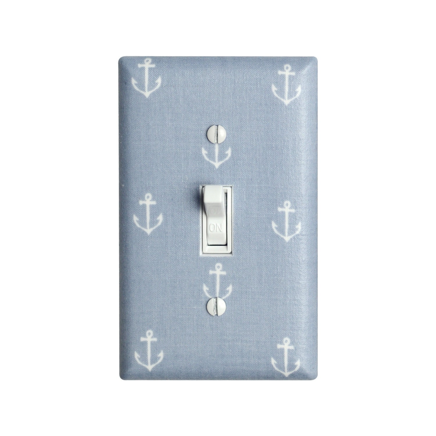 Anchor light switch plate cover nautical nursery decor for Decor light switch
