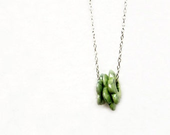 Ceramic Flowers  Necklace - Green