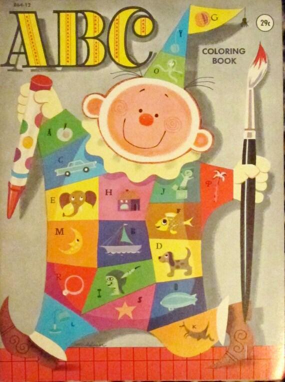 vintage ABC COLORING BOOKS - lot of 2 - unused