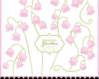 Digital, flower clip art, clipart, lily of the valley digital clipart : c0258 v301