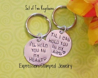 LOVE QUOTE Keychain -- Boyfriend/ Girlfriend -- Engagement -- Long Distance Relationships -gifts for her - gift bag included