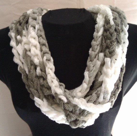 Crochet Pattern For Scarf Using Sashay Yarn : Crochet Rope Scarf Infinity Scarf Crochet Scarf Sashay