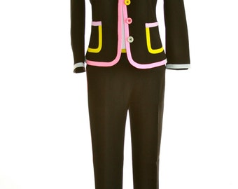 Moschino C&C  Suit - Black with Colorful Details - Size 4