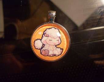 RAGNAROK ONLINE Amistir Artwork Homunculus Glass Charm Pendant -- Customization Available: Necklace, Keychain, Cell Phone Strap