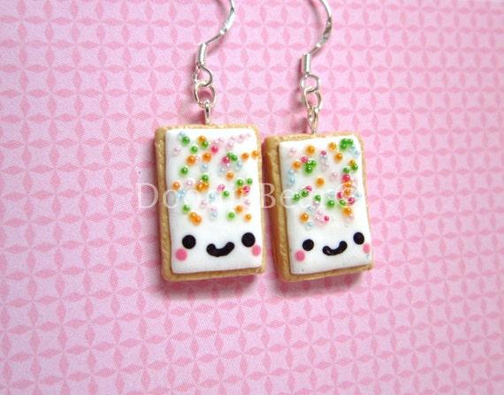 Pop Tart Cute Kawaii Polymer Clay Earrings