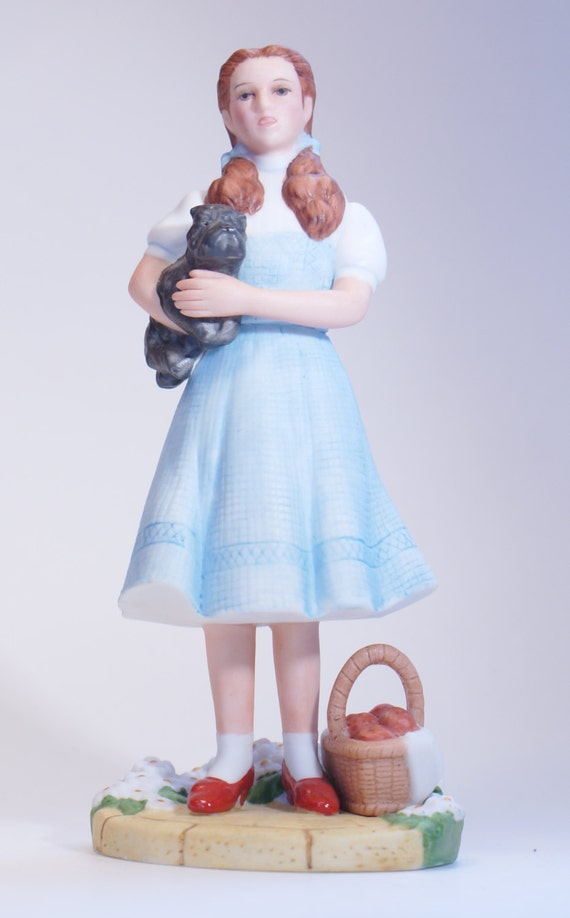 Vintage Figurine Wizard Of Oz Dorothy And Toto Avon 1985