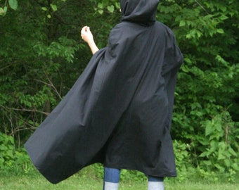Black Cloak, Adult, Hooded