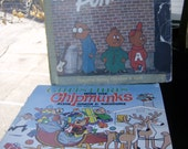 Two Vintage Chipmunks Records - Chipmunk Punk and Christmas With The Chipmunks - SALE