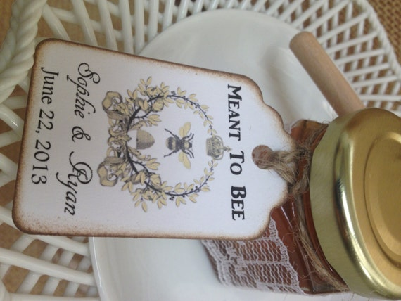 50 meant to bee honey wedding shower favors with dipper for Honey bee wedding favors