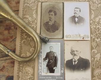 GENTLEMEN Meeting // 4 vintage photographs
