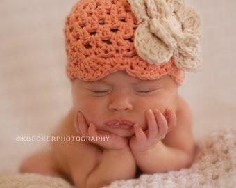 baby girl hat, newborn hat, baby hat, newborn girl hat, newborn baby hat, girl hat, crochet baby hat, vintage inspired baby hat