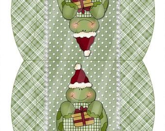 Christmas Turtles Digital Pillow Box Set of Two