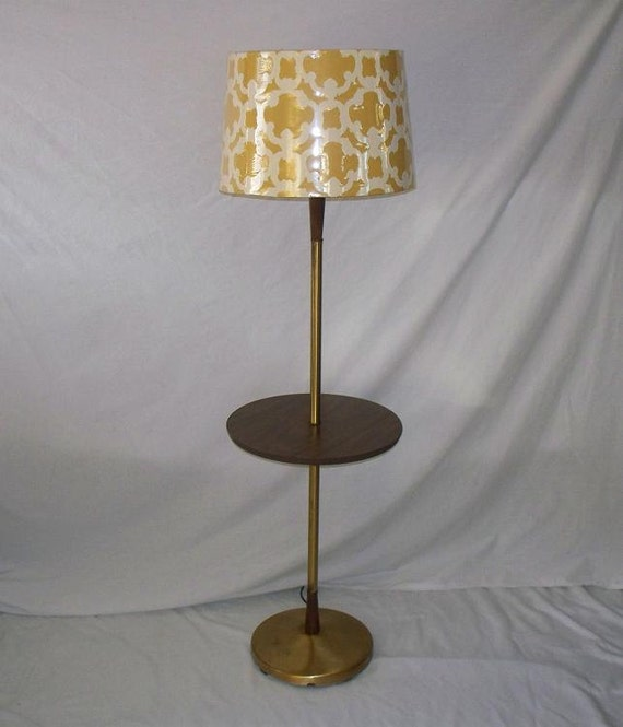 Brass End Table Lamp