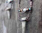 Deer Tip Boho Necklace, Unisex, Spiritual, Wild life, Southwester, Bohemian, Tribal,  Love, Nature Inspired - WildPeopleFreeSpirit