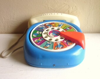 The Smurfs Vintage Telephone Mattel Play Phone 1978 Cartoon Characters