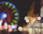 Carnival Dreams - Original Fine Art Photograph - Ferris Wheel, Carnival, Circus, FREE SHIPPING
