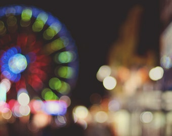 Carnival Dreams - Original Fine Art Photograph - Ferris Wheel, Carnival, Circus, FREE SHIPPING