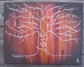 Med.- Autumn Wood 1 Cor. 13 Love Tree Painting scripture painting, love painting, inspirational painting