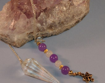 Dowsing Pendulum Quartz Crystal and Celtic Knot OOAK New Age Magick, Pagan, Witchy, Divination Wicca135796P