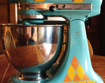 Modern Geometric Kitchen Aid Decals, Triangle Decals for Stand Mixer