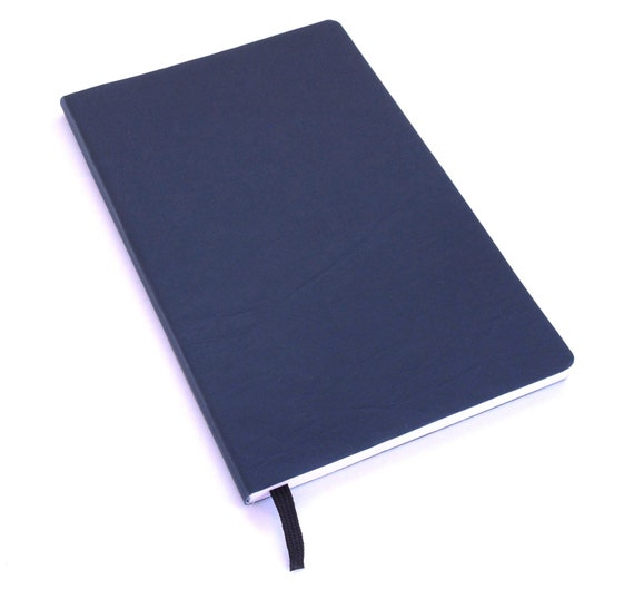 MEDIUM Navy Journal Faux Leather Journal Soft-cover, Handbound Notebook