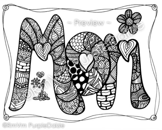 Items similar to printable color page zen doodle design for Zendoodle coloring pages