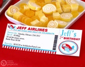 DIY PRINTABLE Invitation Card - Invitation Card - Airplane Birthday Party - PS818CA1a1