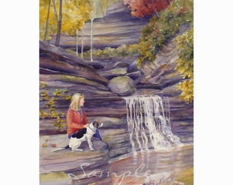 11x14 Custom Watercolor or Oil Painting From Your Photos by Janet Zeh Original Art