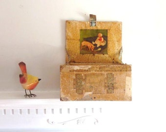 Handmade Decorative Storage Box,  Decorated Wooden Box,  Celluloid Style Box