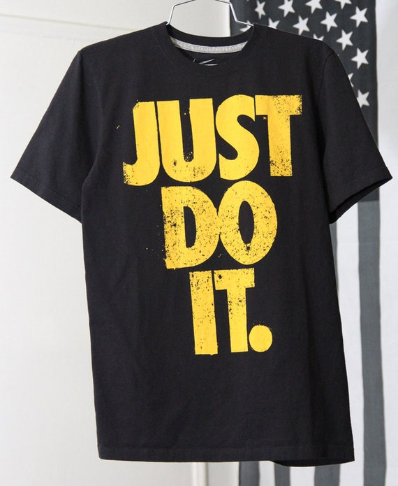 Black And Yellow Just Do It Nike T Shirt