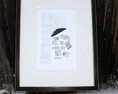 Bob Marley Feel the Rain Digitally Printed Quote Holiday Gift