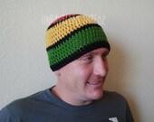 Rasta Beanie- Adult Beanie Hat Rastafarian, Beanie Hat for Men